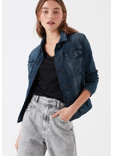 Mavi Jean Ceket | Daisy - Yarı Dar Kalıp Lacivert
